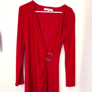 Evan Picone red dress size 6
